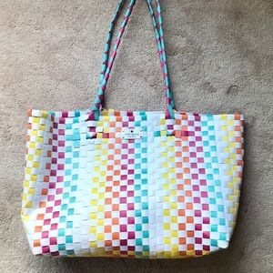 ♠️ kate spade ♠️ colorful weaved beach tote